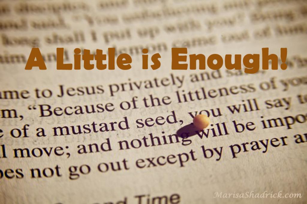 A Little is Enough